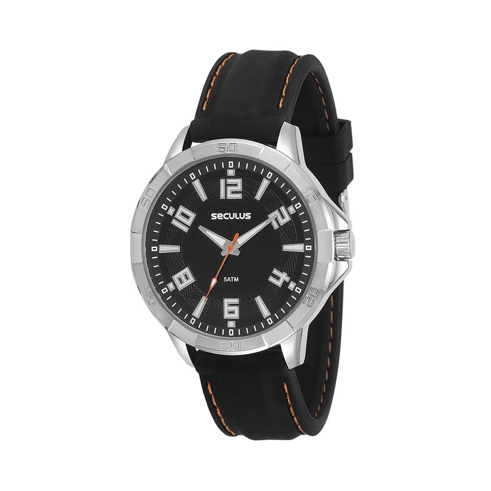 029419349a1 Relógio Action Pulseira Silicone Preto - seculusdigital