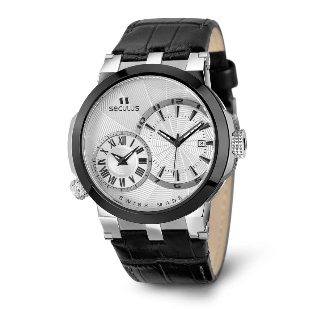 Relógio Suíço Multifunção Preto 4511775