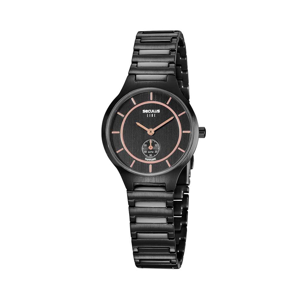 Relógio Minimalista Preto