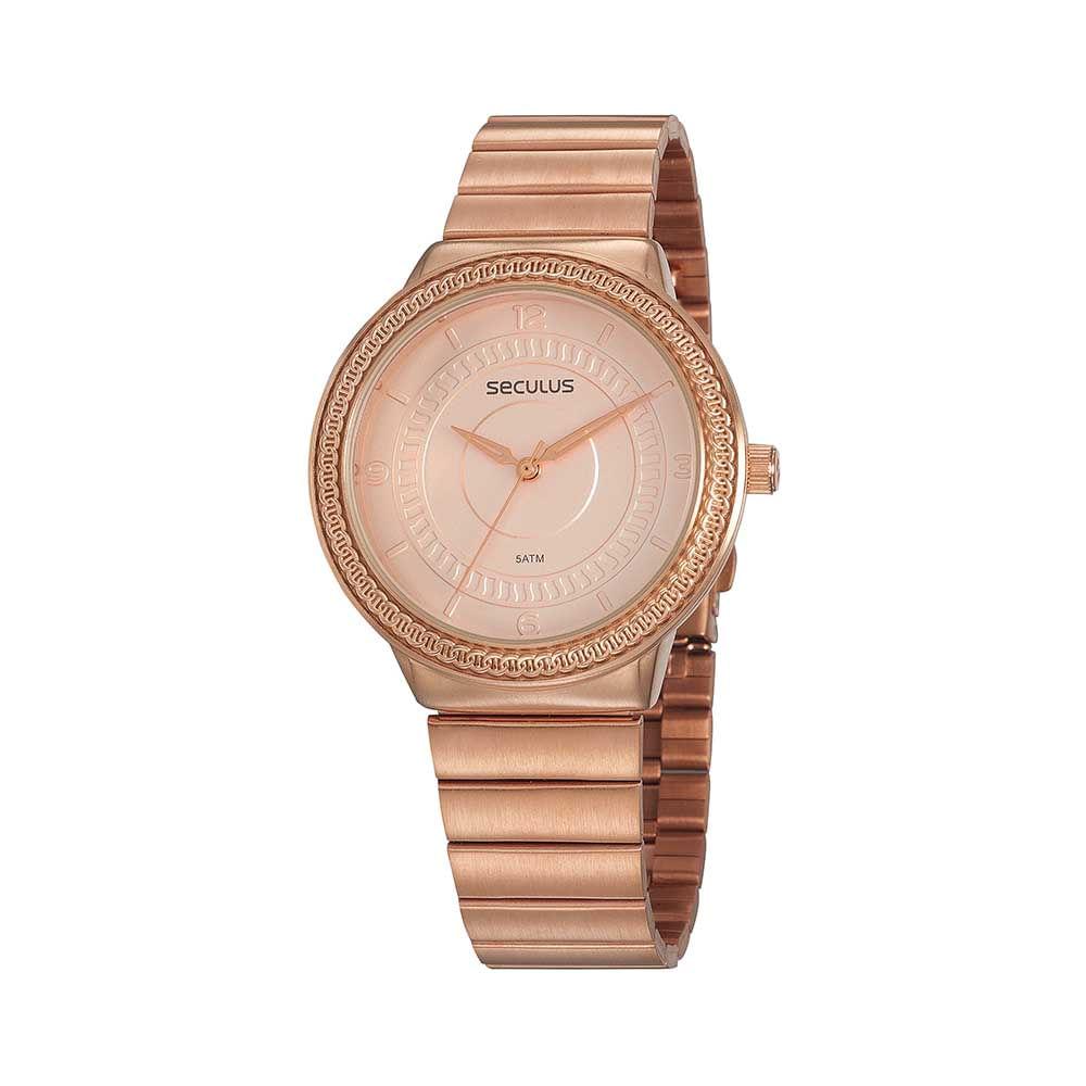 Relógio Casual Textura Rosé